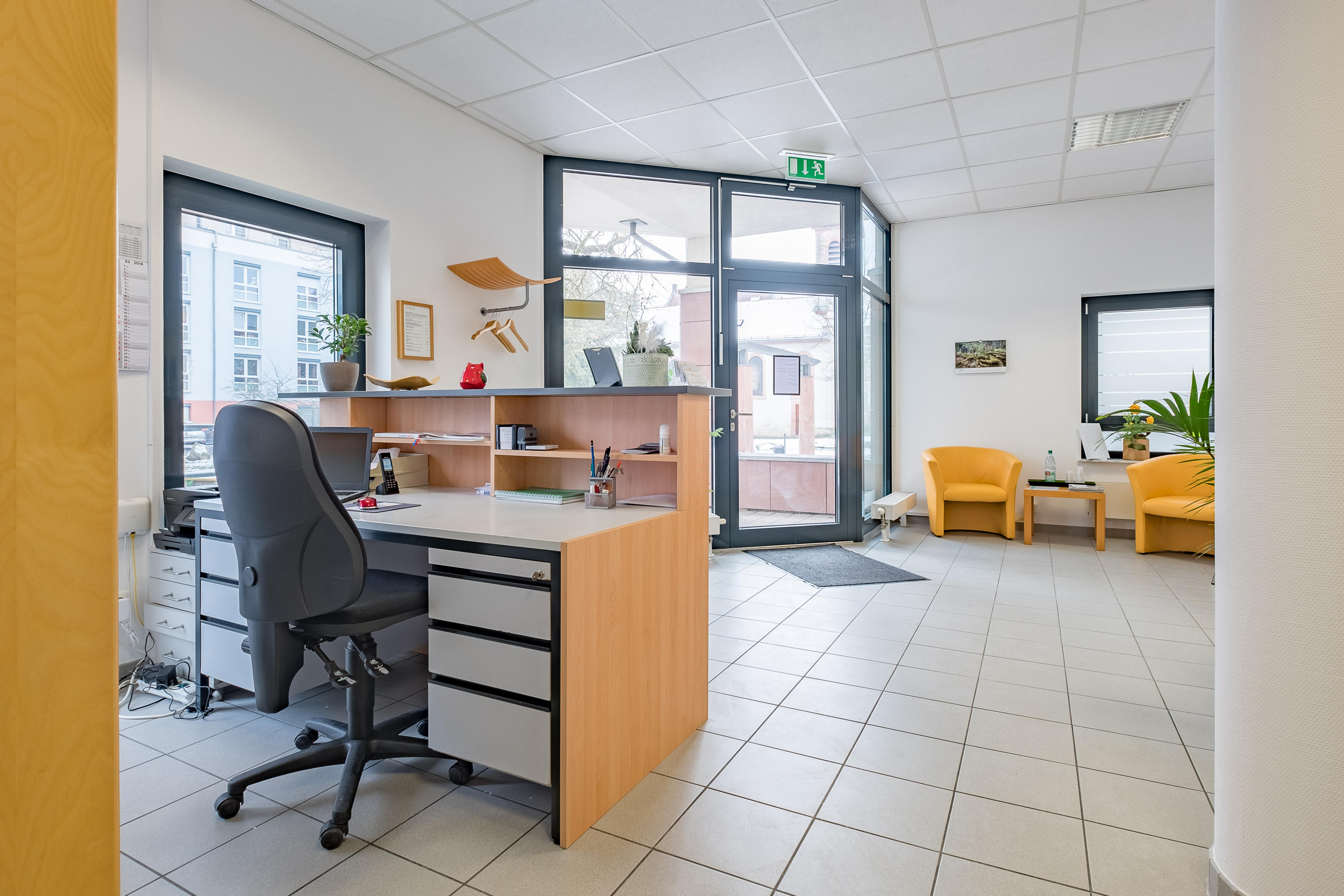 Empfang, Praxis, Wartebereich, Eingang, Kress, Aschaffenburg, Prodologie
